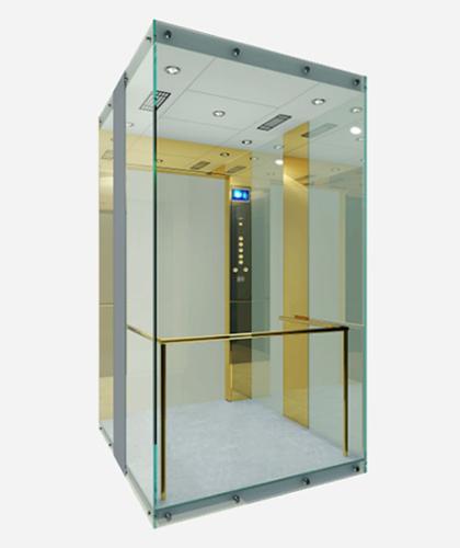 冯克别墅电梯-镜面钛金